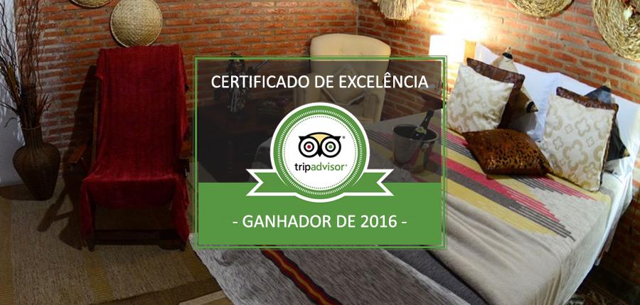 Certificado de Excelência TripAdvisor – Pousada das Nascentes
